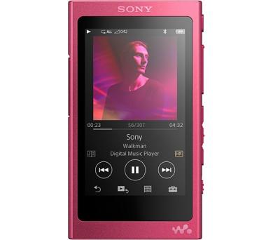 Sony MP4 16GB NW-A35HN růžový ,Hi-res + sluchátka