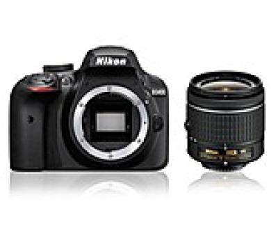 NIKON zrcadlovka D3400 + AF-P 18-55 VR - černý - Rozbaleno + ZDARMA powerbanka Nikon