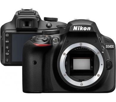 NIKON zrcadlovka D3400 + 18-105 VR - černý - rozbaleno + ZDARMA powerbanka Nikon