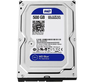 WD BLUE WD5000AZRZ 500GB SATA/600 64MB cache 5400 ot. + DOPRAVA ZDARMA
