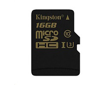 Kingston 16GB Micro SecureDigital (SDHC) Card Gold