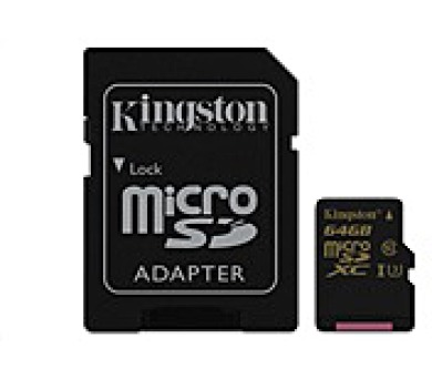 Kingston 64GB Micro SecureDigital (SDXC) Card Gold