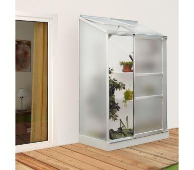 Skleník Lanit Plast VITAVIA IDA 900 matné sklo 4 mm stříbrný + DOPRAVA ZDARMA