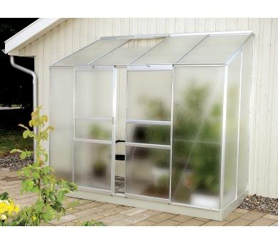 Skleník Lanit Plast VITAVIA IDA 3300 matné sklo 4 mm stříbrný + DOPRAVA ZDARMA