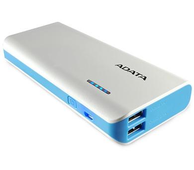 ADATA PT100 Power Bank 10000mAh bílá/modrá