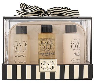 Tělové mléko Grace Cole Fresh Linen Bath Kit