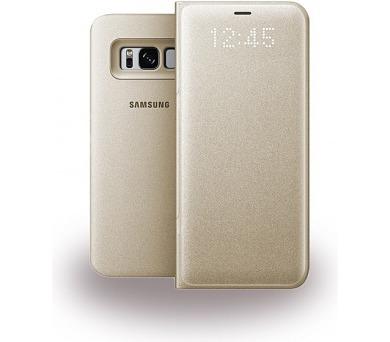 Samsung LED flipové pouzdro EF-NG950PFE pro Galaxy S8 Gold + DOPRAVA ZDARMA