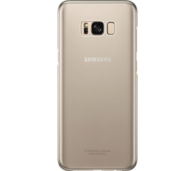 Samsung zadní kryt Clear Cover EF-QG955CFE pro Galaxy S8+ Gold
