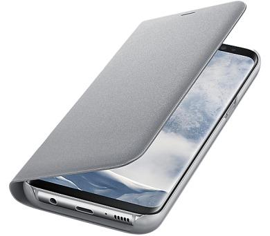 Samsung LED flipové pouzdro EF-NG950PSE pro Galaxy S8 Silver + DOPRAVA ZDARMA