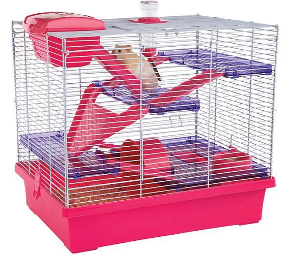 Klec hlod. křeček Pico XL růžová/fialová RW 50 x 36 x 47 cm + DOPRAVA ZDARMA