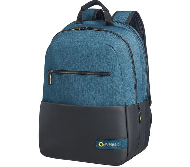 "American Tourister CITY DRIFT LAPTOP BACKPACK 15.6"" BLACK/BLUE + DOPRAVA ZDARMA"