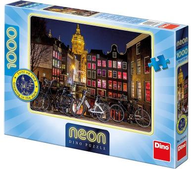 Noční Amsterdam 1000D neon