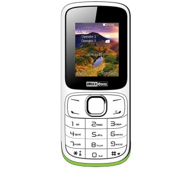 MAXCOM Classic MM129 DS gsm tel. White/Green