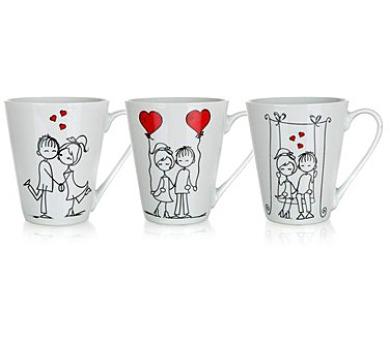 BANQUET Hrnek keramický LOVE 310 ml