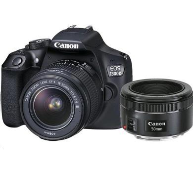 Canon EOS 1300D + 18-55 DC + EF 50 1,8 STM