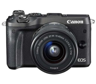 Canon EOS M6 Body Black + EF-M 15-45 IS STM