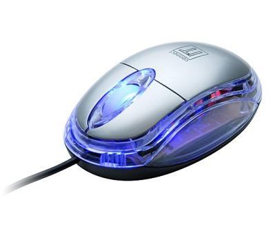 CONNECT IT optická myš podsvícená - stříbrná (CI-64)