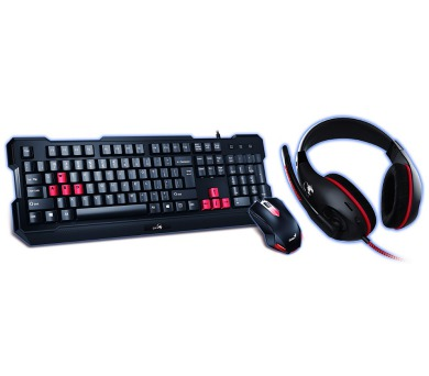 GENIUS GX GAMING KMH-200/ Herní set klávesnice s myší a headsetem (31280230105)