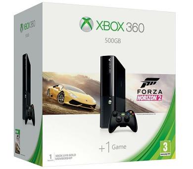 XBOX 360 E - 500GB + Forza Horizon 2 + 1 měsíc MS Live