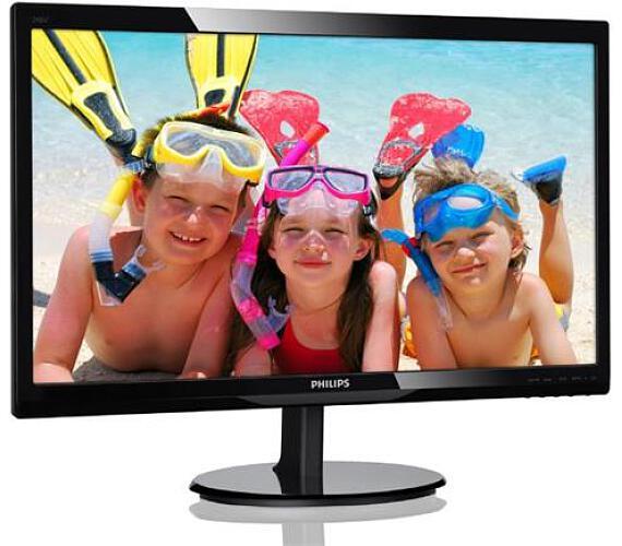 """Philips LCD 246V5LDSB 24""""wide LED/1920x1080/1ms/10mil:1/VGA/DVI/HDMI + DOPRAVA ZDARMA"""