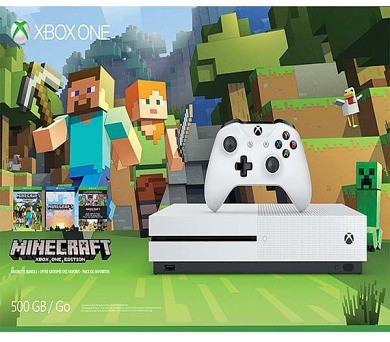 XBOX ONE S - 500GB + Minecraft Favorites Pack