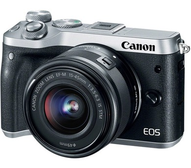 Canon EOS M6 Body Silver + EF-M 15-45 IS STM + EF-M 55-200 (1725C032)