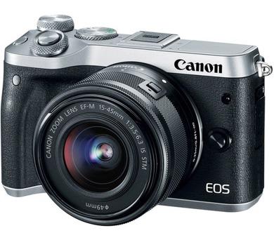 Canon EOS M6 Body Silver + EF-M 15-45 IS STM + EF-M 55-200 - SELEKCE SIP