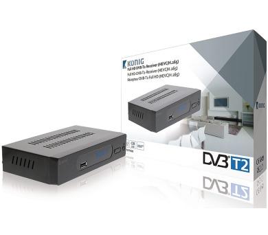König FTA20 - DVB-T2 HEVC/H.265 přijímač (set-to box) + DOPRAVA ZDARMA