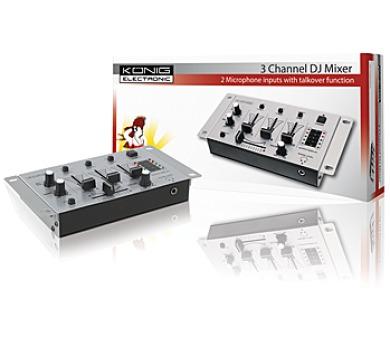 König KN-DJMIXER10 - 3-kanálový DJ mixážní pult + DOPRAVA ZDARMA