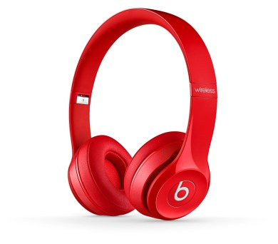 Apple Beats by Dr. Dre Solo 2 Wireless On-Ear Headphones - Red + DOPRAVA ZDARMA