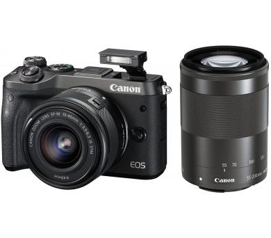 Canon EOS M6 Body Black + EF-M 15-45 IS STM + EF-M 55-200 - SELEKCE SIP