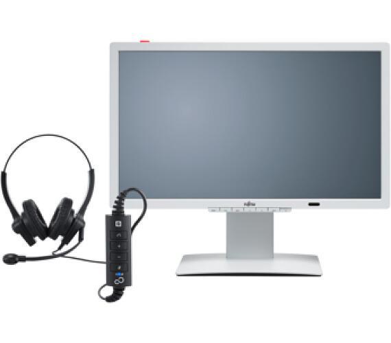 Fujitsu 24´´ P24-8 LED IPS 1920x1080/20M:1/5ms/250cd/DVI/DP/3xUSB/repro/ZBD + DOPRAVA ZDARMA