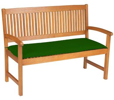 Sedák na lavici 3sed 150x45x6 cm zelená