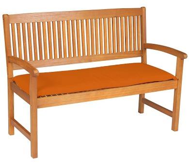 Sedák na lavici 3sed 150x45x6 cm terakota