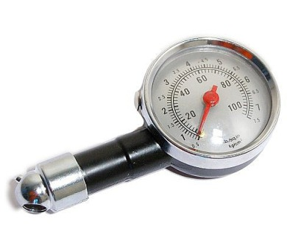Měřič tlaku pneumatik METAL 7 bar COMPASS