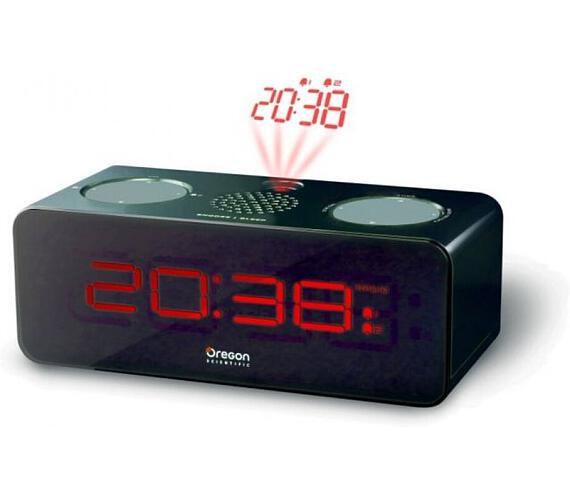 Digitální budík s FM radiopřijímačem RRA320PBK Oregon Scientific + DOPRAVA ZDARMA