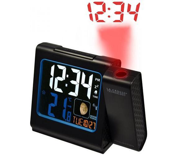 Digitální budík s projekcí a měřením vniřní teploty WT 551BK La Crosse Technology + DOPRAVA ZDARMA