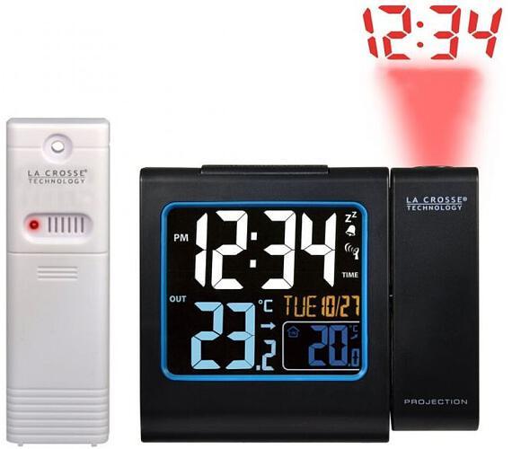 Digitální budík s projekcí a měřením vniřní a vnější teploty WT 552BK La Crosse Technology + DOPRAVA ZDARMA
