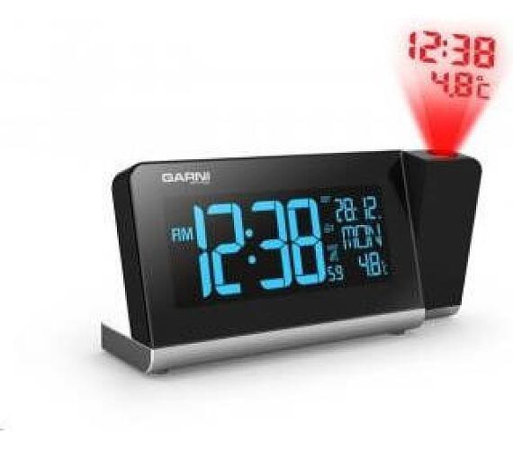 Digitální budík s projekcí času a vnitřní teploty GARNI 165 Arcus Garni technology