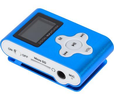 Kruger&Matz Quer KOM0743- MP3 s LCD displejem,bez paměti s microSD slotem,FM radio-BLUE