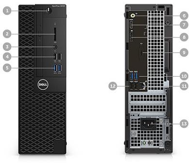 DELL OptiPlex SFF 3050 Core i5-7500/8GB/128GB SSD/Intel HD/Win 10 Pro 64bit/3Yr NBD + DOPRAVA ZDARMA