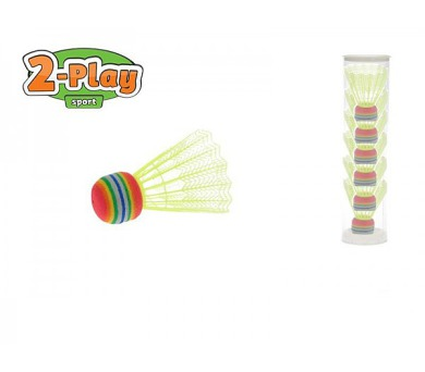 Košíčky na badminton žluté 2-Play 6ks v tubě 7x25x7cm