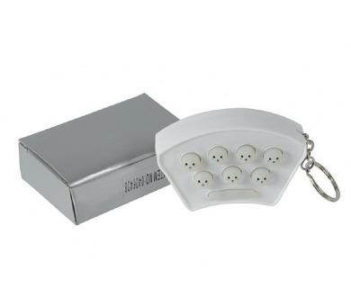 Přívěšek na klíče Chyť mě mini hra na baterie se zvukem se světlem v krabičce 8x5,5x2,5cm