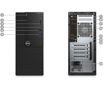 DELL OptiPlex MT 3050 Core i5-7500/8GB/256GB/Intel HD/Win 10 Pro 64bit/3Yr NBD + DOPRAVA ZDARMA