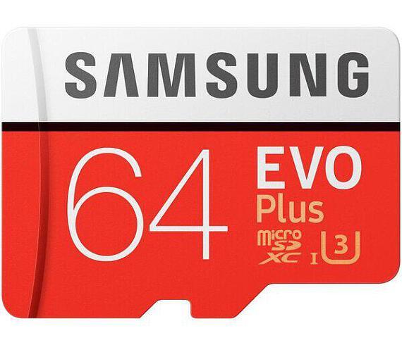 Samsung micro SDXC 64GB EVO Plus + SD adaptér (MB-MC64GA/EU)
