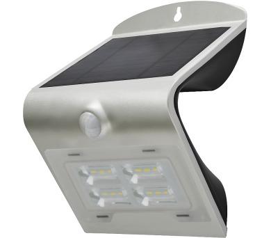 Venkovní solární LED osvětlení s čidlem 2W stříbrná Massive 08425L + DOPRAVA ZDARMA