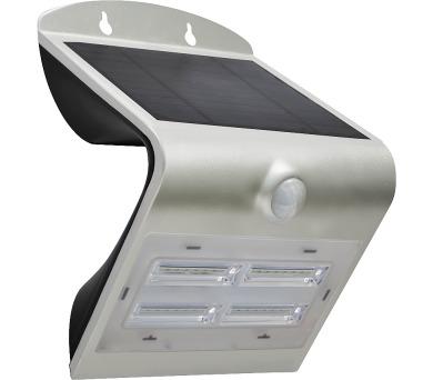 Venkovní solární LED osvětlení s čidlem 3,2W stříbrná Massive 08428L + DOPRAVA ZDARMA