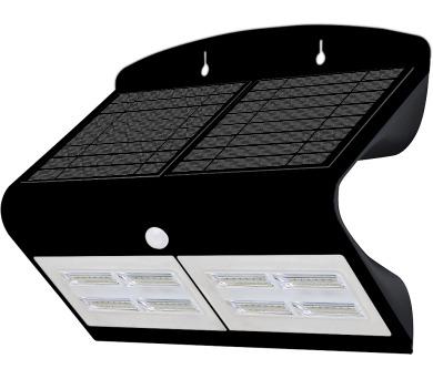 Venkovní solární LED osvětlení s čidlem 6,8W černá Massive 08430L + DOPRAVA ZDARMA