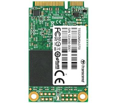 TRANSCEND MSA370 32GB Industrial SSD disk mSATA + DOPRAVA ZDARMA