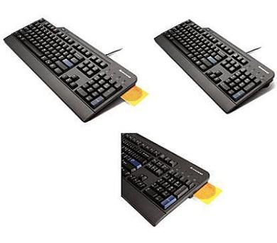 Lenovo klávesnice USB Black Preferred Smartcard reader -CZ (4X30E51008)